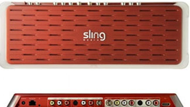The Slingbox will amazingly let you watch and control your Freeview or Foxtel remotely. Source: supplied