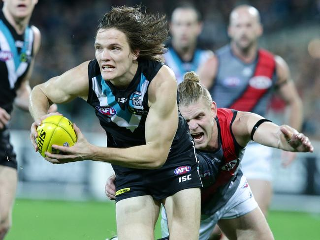 Jared Polec running hard for the Power.