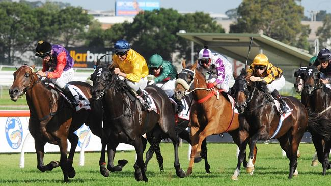 Silent Achiever (gold silks) finally breaks through at Group 1 level in Australia. Pictur