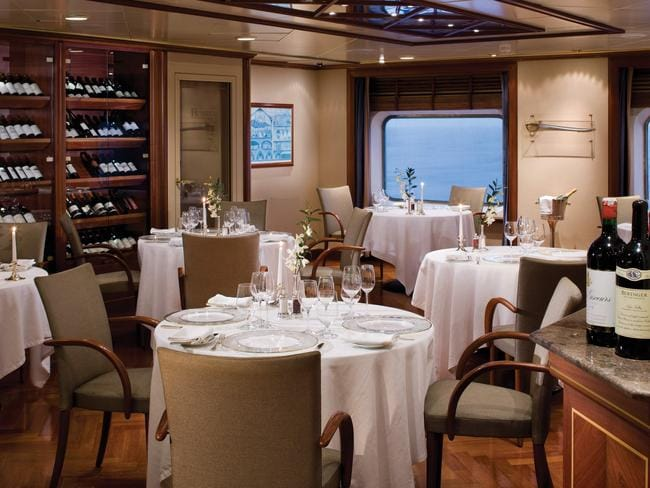 Le Champagne Restaurant on Silver Spirit.