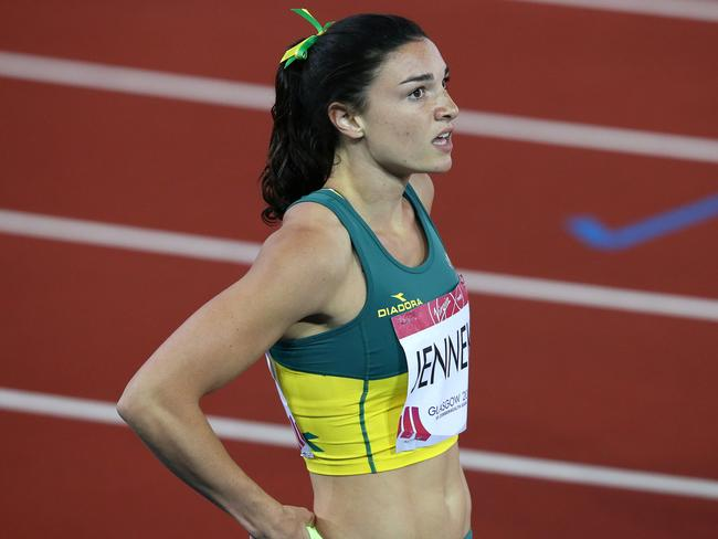 Michelle Jenneke in action at the Commonwealth Games. Picture: Adam Head.