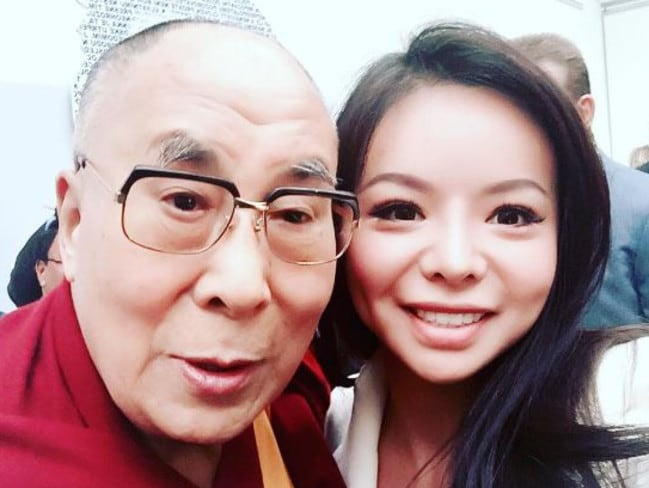 Anastasia Lin and the Dalai Lama. Picture: Instagram