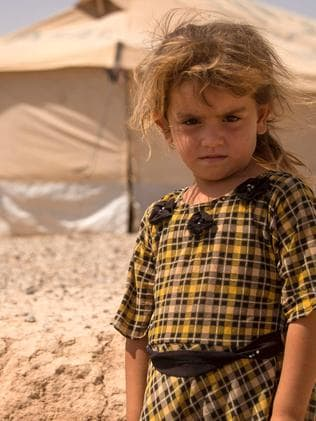 A displaced Iraqi girl who has fled Mosul. Picture: AFP PHOTO / FADEL SENNA