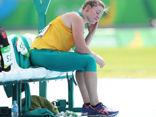 Discus thrower Dani Samuels just missed out on a medal. Picture. Phil Hillyard