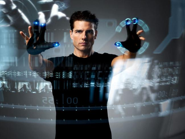 Tom Cruise plays a futuristic cop using the help of mind readers who predict crimes in Minority Report.