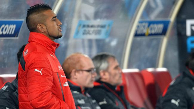 Chilean footballer Arturo Vidal is recovering form surgery but is in Chile's 23-man squad.