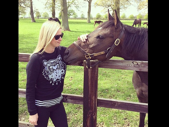 She might wear her sister's name on her jumpers but American socialite Nicky Hilton has found a friend in this beautiful guy. Picture: Instagram