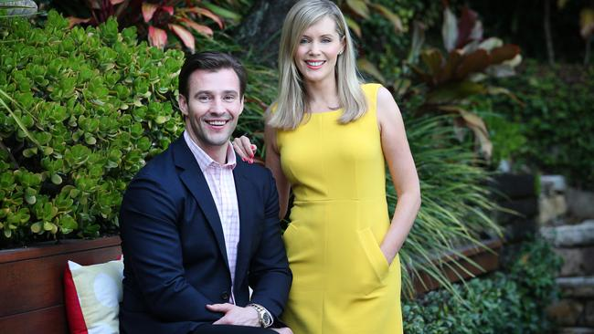 Sophie Falkiner and Kris Smith. Picture: Richard Dobson