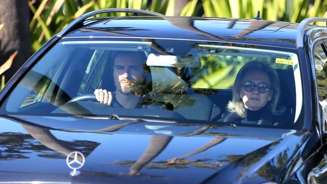 Hugo Wran drives his mother Jill Hickson-Wran to visit Harriet at Silverwater Jail. Picture: John Grainger