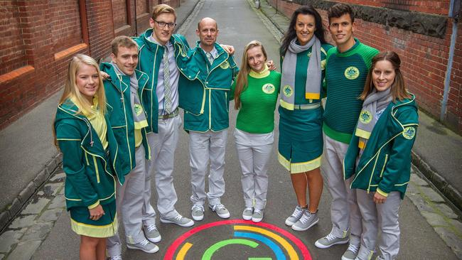 Australia's Commonwealth Games uniforms.