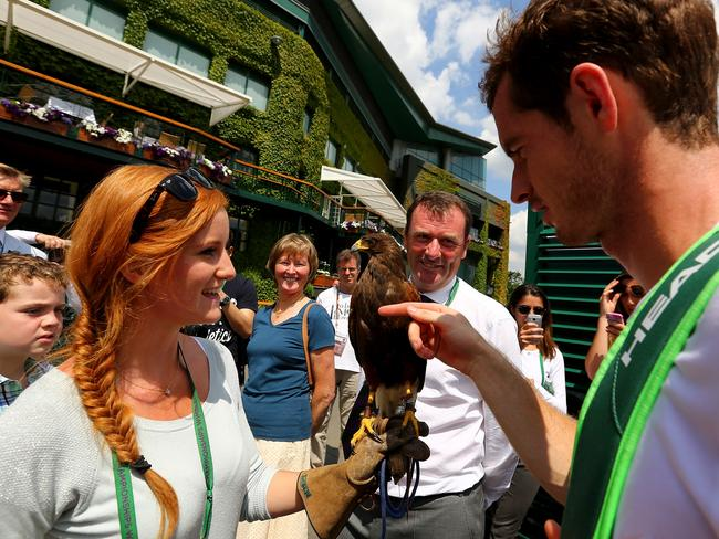 Andy Murray meets Rufus and Imogen.