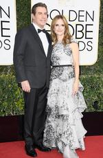 John Travolta and Kelly Preston attend the 74th Annual Golden Globe Awards at The Beverly Hilton Hotel on January 8, 2017 in Beverly Hills, California. Picture: Getty