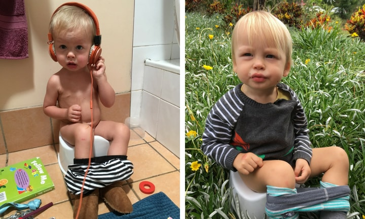 'My babies were both toilet trained at five-months-old'