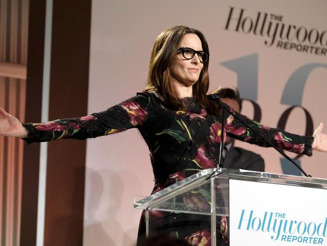 Fey accepts the Sherry Lansing Award at The Hollywood Reporter's Women in Entertainment Breakfast.