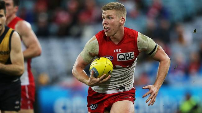 Dan Hannebery starred for Sydney in the defeat. Picture: Phil Hillyard