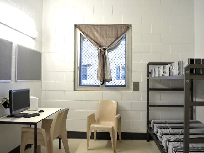 Rooms in the low-security section of the Darwin Correctional Precinct. Picture: Justin Sanson