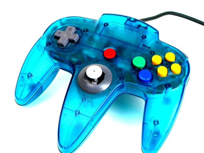 Undated : Blue clear Nintendo 64 control pad