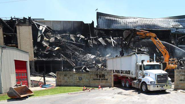 The clean up at Thomas Foods International Murray Bridge abattoir. Picture: Tait Schmaal