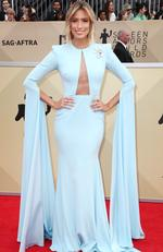 Aussie TV personality Renee Bargh attends the 24th Annual Screen Actors Guild Awards at The Shrine Auditorium on January 21, 2018 in Los Angeles, California. Picture: Frederick M. Brown/Getty Images