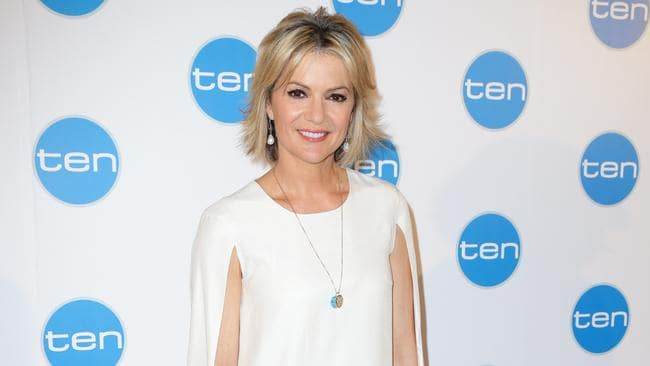 Good sport ...  <i>Ten Eyewitness News</i> anchor Sandra Sully.