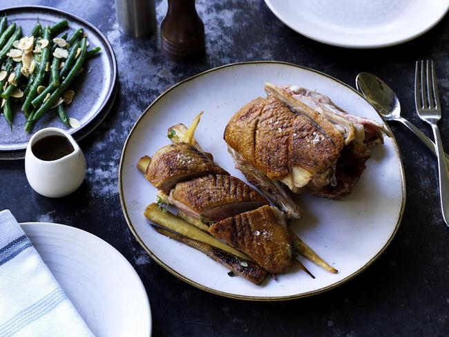 Chiswick Woollahra's whole roast duck dish.