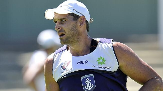 Aaron Sandilands is set to have a run for Freo on Tuesday.