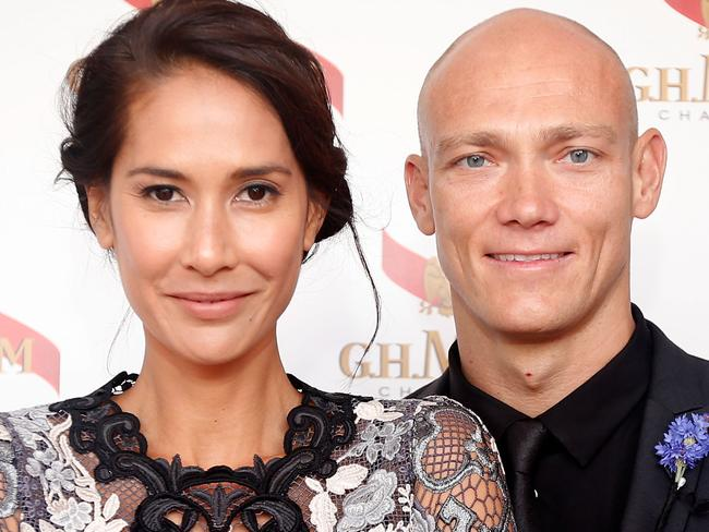 Michael Klim and then-wife Lindy Klim in 2014. Picture: Getty