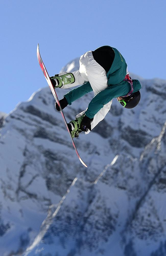 Australia's Scotty James competes in the Men's Snowboard Slopestyle qualification.