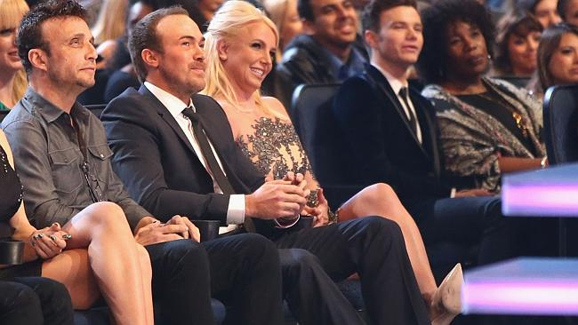 Britney Spears with her current boyfriend, David Lucado (seated next to her) at The 40th Annual People's Choice Awards in LA earlier this month.