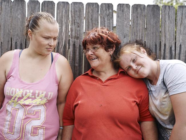 Ashley Kennedy and her daughters. Picture: SBS
