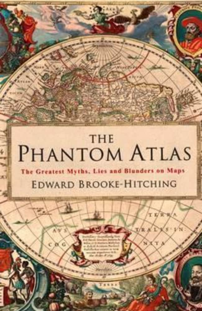 Cover of the new book, The Phantom Atlas, about islands and natural features on maps that don't really exist.