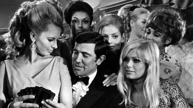 George Lazenby as James Bond in the 1969 film, On Her Majesty's Secret Service.