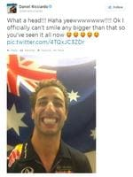 And the world's biggest smile. (Twitter / @danielricciardo)
