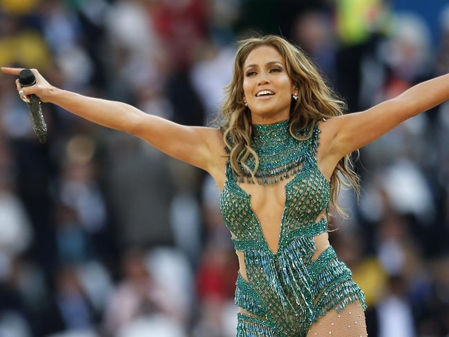 Jennifer Lopez performs during the 2014 World Cup opening ceremony. Picture: AP Photo/Frank Augstein