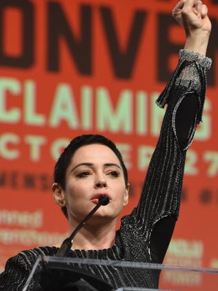 Actress Rose McGowan has been one of the faces of the #MeToo campaign. Picture: Getty