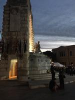 Dawn service at SA National War Memorial, North Terrace. Picture: Craig Cook