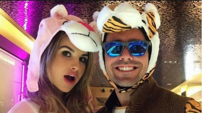 Spencer Matthews with his girlfriend, Vogue Williams. Photo: Instagram