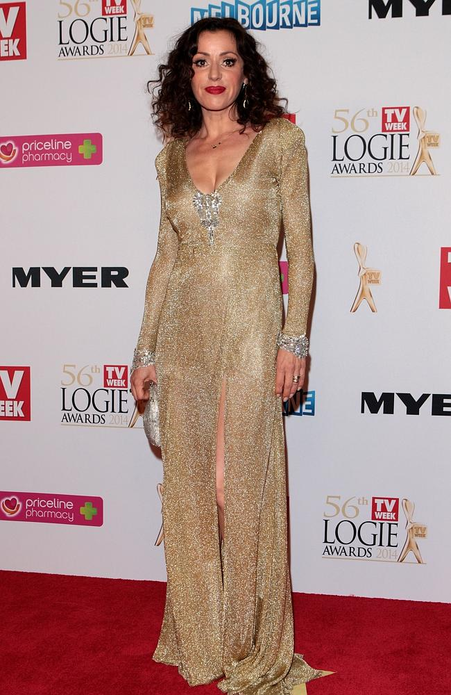 Tina Arena arrives at the 2014 Logie Awards at Crown Palladium. Source: Robert Prezioso/Getty Images