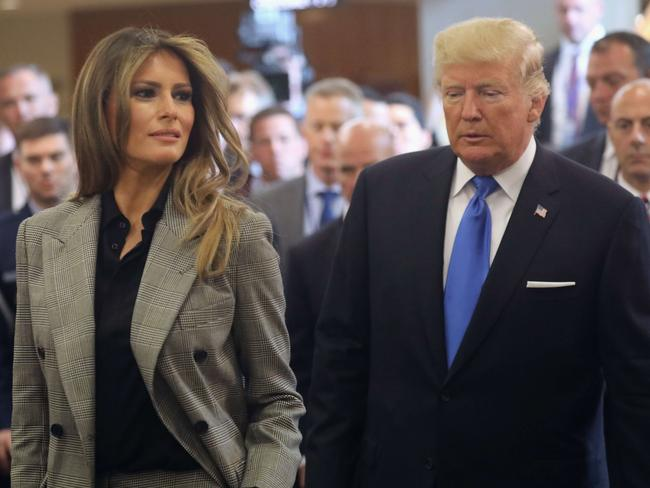 Melania Trump supported her husband, US President Donald Trump, as he delivered his debut speech at the United Nations. Picture: John Moore/Getty Images/AFP