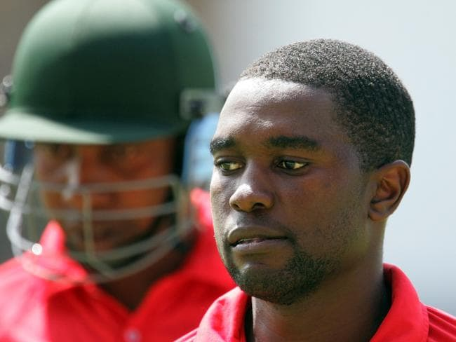Zimbabwe's captain Elton Chigumbura leaves the pitch after making 90 runs. Picture: AFP