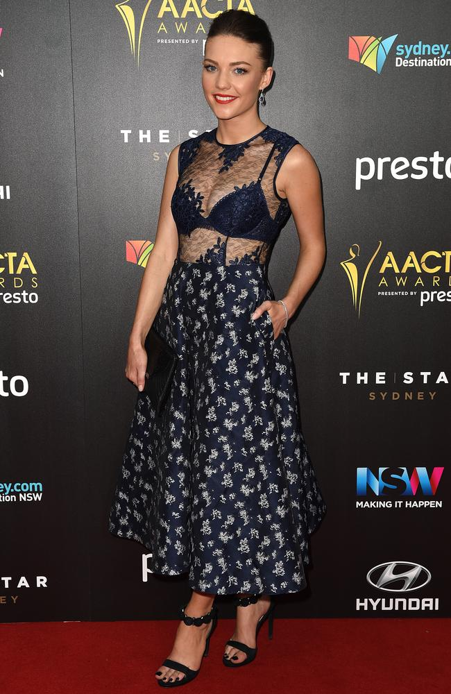 Sam Frost arrives ahead of the 5th AACTA Awards Presented by Presto at The Star on December 9, 2015 in Sydney, Australia. Picture: AAP