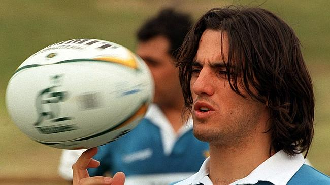 Pichot during an Argentina training session at Ballymore, in Brisbane, in 2000.