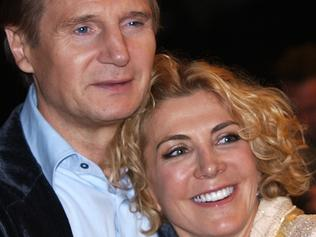 "This 17 Oct 2008 file photo shows actor Liam Neeson with his actress wife Natasha Richardson during the British premiere of his latest film, ""The Other Man"", in London's Leicester Square, as part of the London Film Festival. Actress Natasha Richardson has died, a spokesman said 18 Mar 2009, two days after the daughter of British theater icon Vanessa Redgrave apparently suffered brain damage in what was initially dismissed as a minor ski accident. AFP PHOTO / Files / Max Nash"