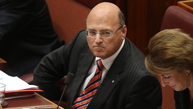Senator Arthur Sinodinos during Question Time in the Senate at Parliament House in Canber