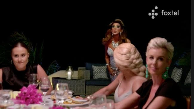 'Gina Liano storms out of group dinner' is a full shot in any Housewives drinking game