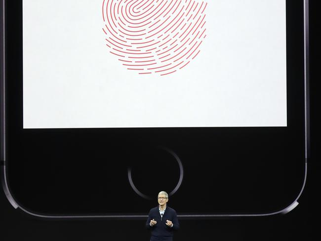 Apple CEO Tim Cook, discusses the new iPhone 8. Picture: AP
