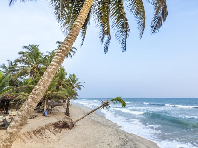 The coast of Ghana is a hot place to relax.