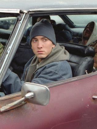 Eminem in 8 Mile.