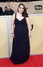 Actor Beanie Feldstein attends the 24th Annual Screen ActorsGuild Awards at The Shrine Auditorium on January 21, 2018 in Los Angeles, California. Picture: Frazer Harrison/Getty Images