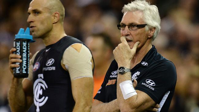 Chris Judd and Carlton coach Michael Malthouse